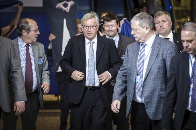 Jean-Claude Juncker, candidat à la présidence de la Commission européenne, dimanche 25 mai, à Bruxelles.