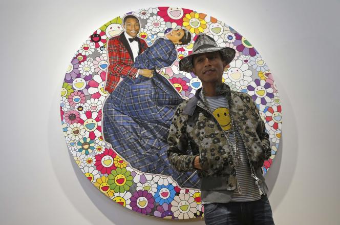 Pharrell Williams lors de l'inauguration de l'exposition