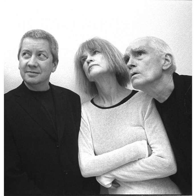 Carla Bley et ses musiciens Steve Swallow (basse électrique) et Andy Sheppard (soprano et ténor sax).