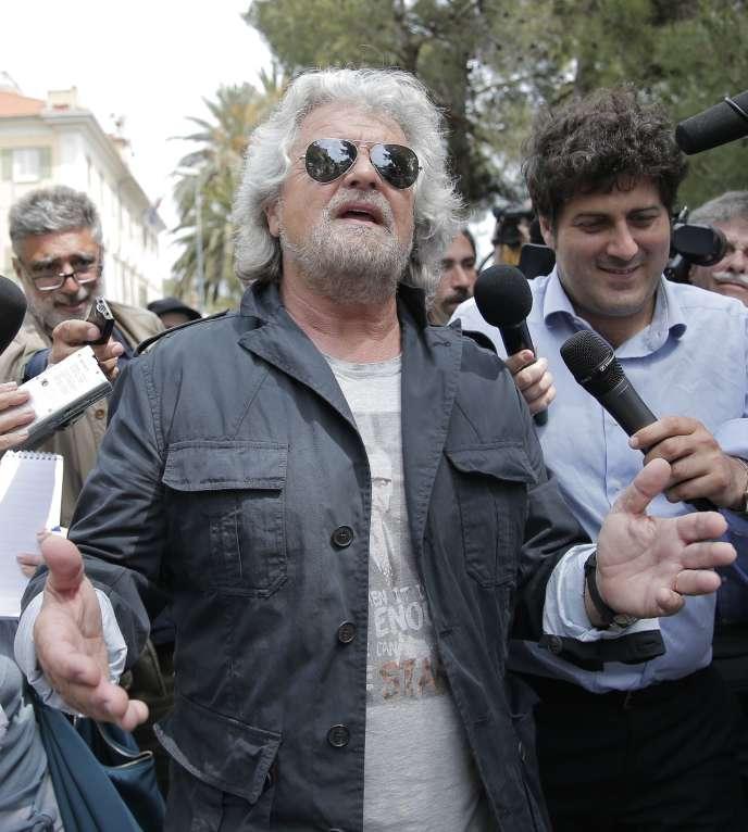 Beppe Grillo, leader du Mouvement 5 Etoiles, après le vote des européennes, le 25 mai 2014.
