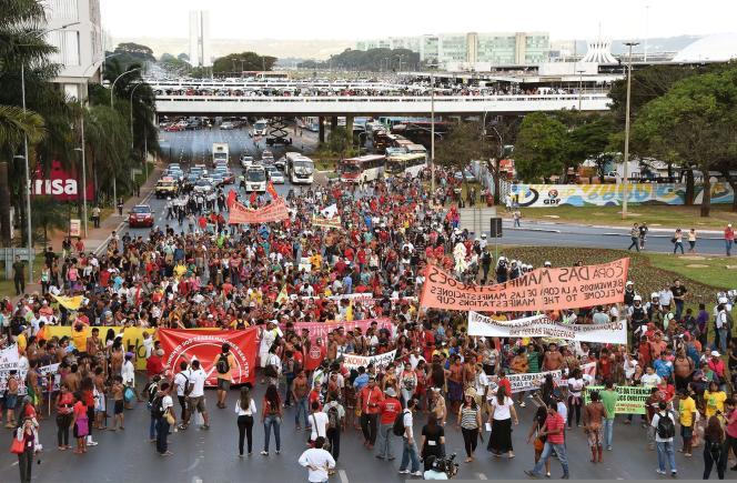 Manifestation à Brasilia le 27 mai.