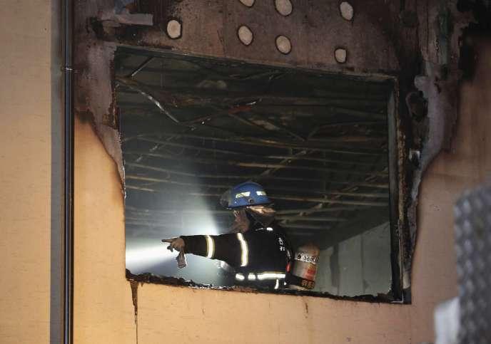 Dans l'hôpital qui a brulé en Corée du Sud, le 28 mai.