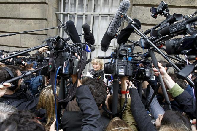 Nadine Morano après le bureau politique de l'UMP, le 27 mai.