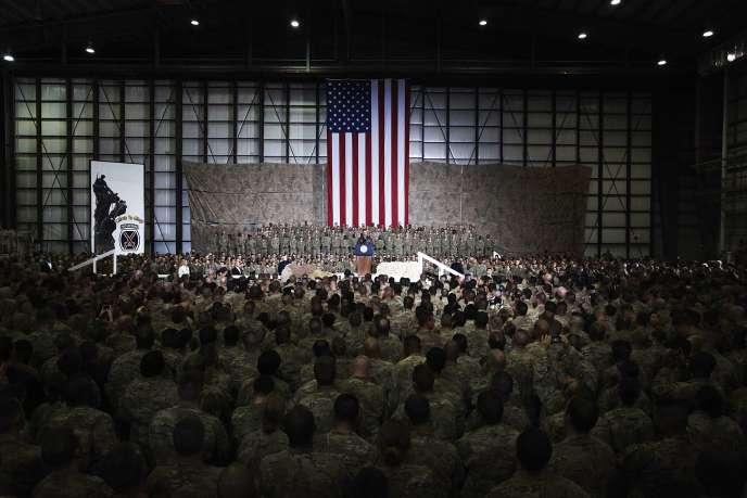 Barack Obama sur la base de Bagram, en Afghanistan, le 25 mai 2014.