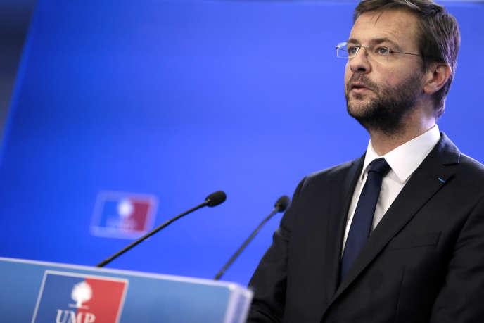 Jérôme Lavrilleux dans les locaux de l'UMP le 22 novembre 2012.