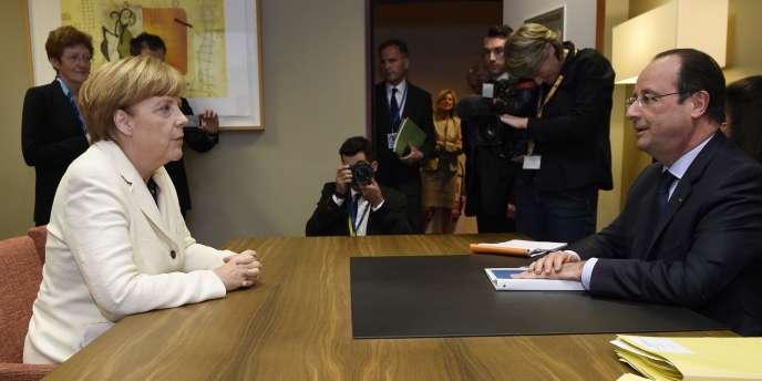 Angela Merkel et François Hollande à Bruxelles, le 25 mai.