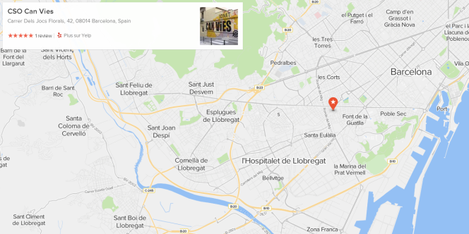 Can Vies était situé dans le quartier de Sants, à Barcelone.