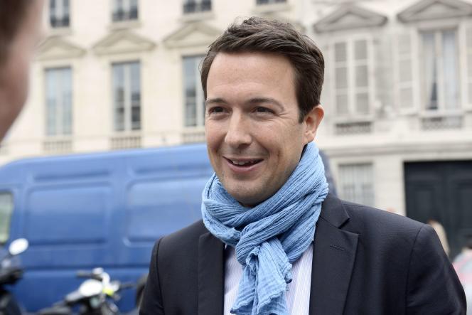 Guillaume Peltier, ancien du Front national et actuel vice-président de l'UMP, le 27 mai à Paris.
