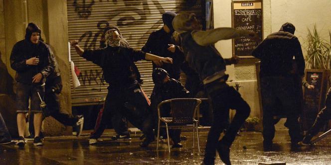 A Barcelone, aux abords du Can Vies, le 28 mai.