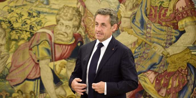 Nicolas Sarkozy en visite à Madrid, le 27 mai.