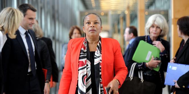 Christiane Taubira, le 22 mai à Paris.