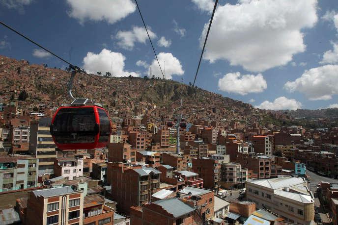 Le téléphérique de la ville de Lapaz (Bolivie)