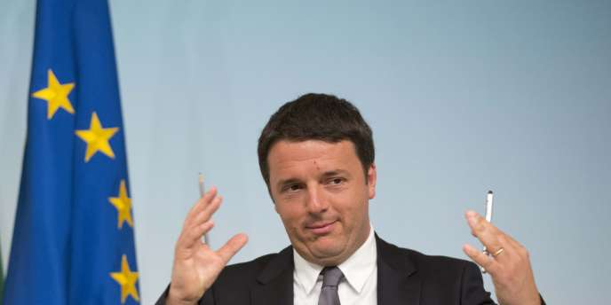 Matteo Renzi, premier ministre italien, le 26 mai.