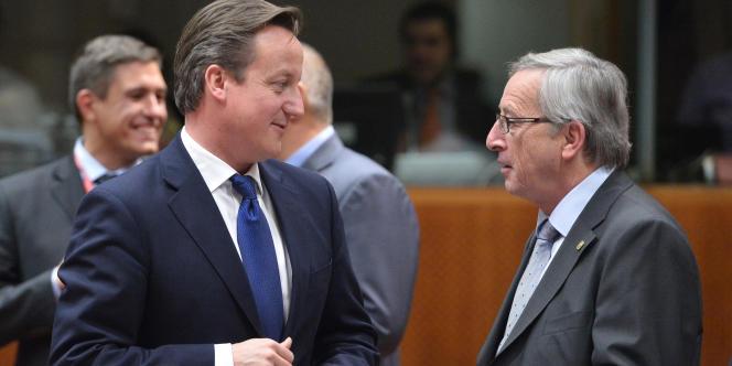 David Cameron et Jean-CLaude Juncker le 22 novembre 2012 à Bruxelles.