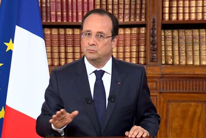 Le président de la République François Hollande lundi 26 mai, lors de son allocution télévision au lendemain des élections européennes.
