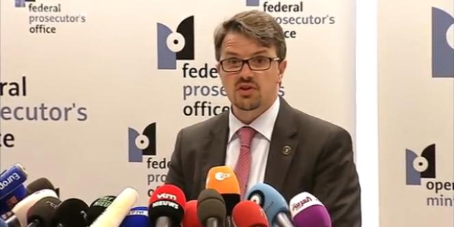 La conférence de presse du parquet belge, le 1er juin.