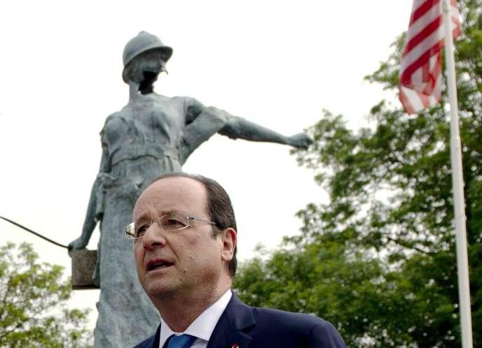 François Hollande le 1er juin à Trevières.