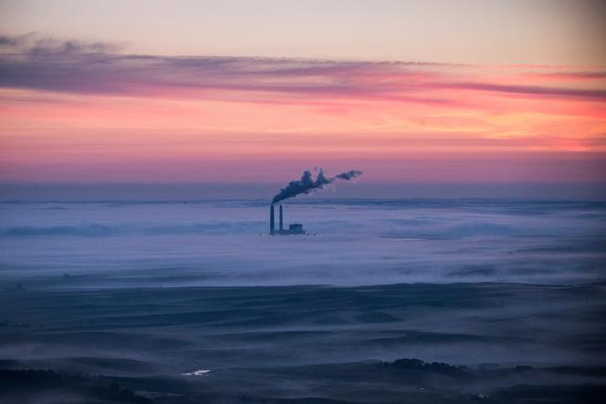 Une centrale à charbon dans le Dakota du Nord.