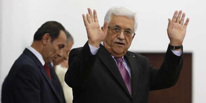 Mahmoud Abbas, le 2 juin, à Ramallah.