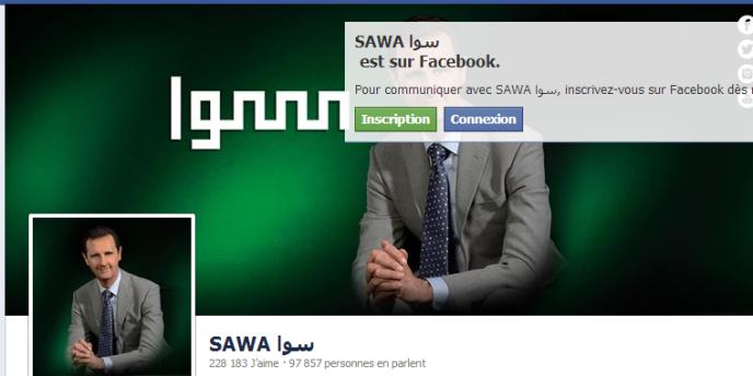 La page de campagne de Bashar el-Assad sur Facebook,