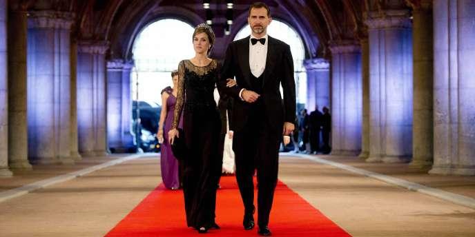 Le prince Felipe avec sa femme, la princesse Letizia, le 29 avril.