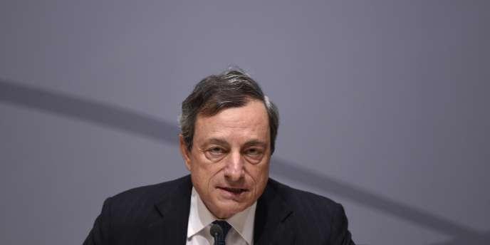 Le président de la Banque centrale européenne, Mario Draghi, le 8 mai, à Bruxelles.