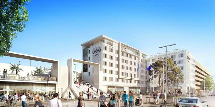 Le futur parvis de la gare de Cannes.