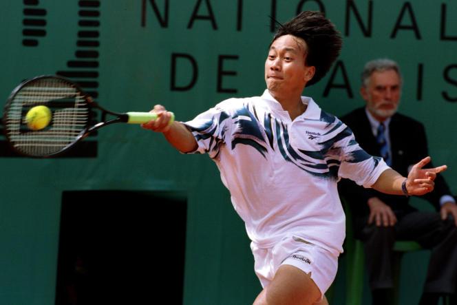 Michael Chang, le 26 mai 1994 lors du deuxième tour de Roland-Garros.