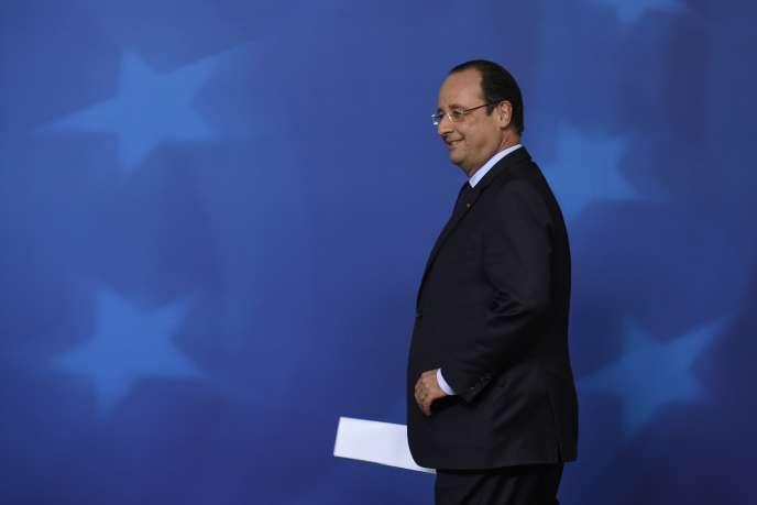 François Hollande le 27 mai 2014 à Bruxelles.