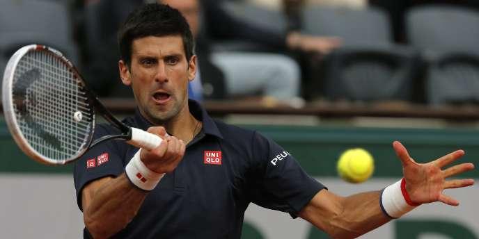 Novak Djokovic, lors de son match victorieux contre Milos Raonic, le 3 juin 2014.