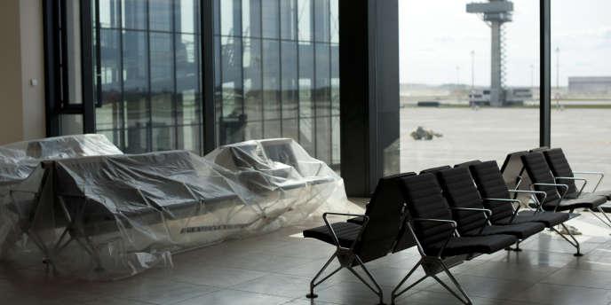 Dans l'aéroport international de Berlin, en avril 2012.