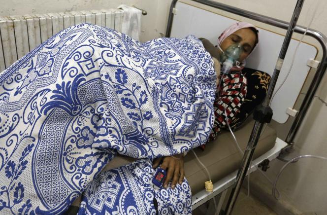 Dans un hôpital de fortune, à Kfar-Zita, le 22 mai.