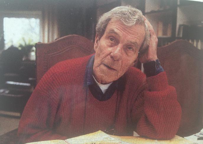 Le major van Luck chez lui en 1994.