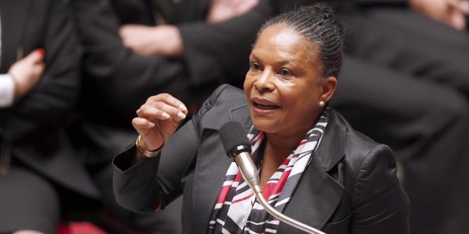 Christiane Taubira à l'Assemblée, le 3 juin.