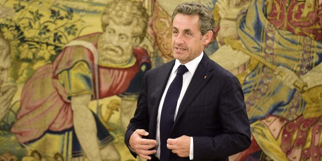 Nicolas Sarkozy, à Madrid le 27 mai.