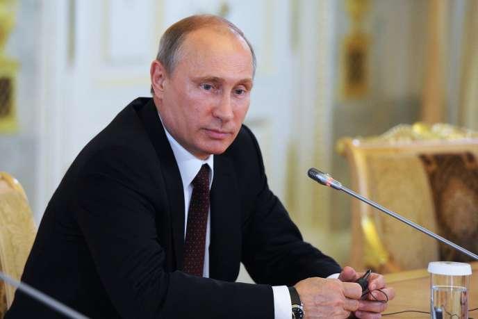 Vladimir Poutine à Saint-Pétersbourg, le 24 mai.