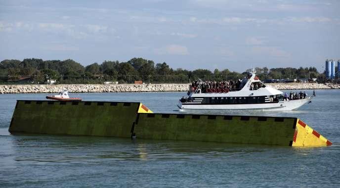 Dans la lagune de Venise, en octobre 2013.