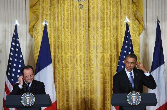 François Hollande et Barack Obama à Washington, le 11 février.