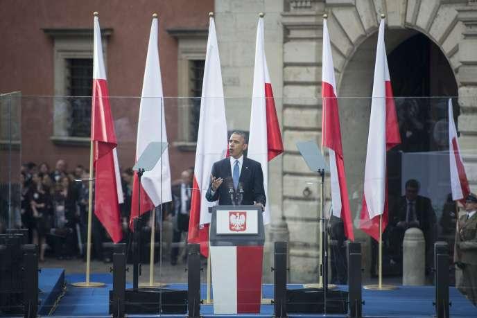 Barack Obama, le 4 juin devant le château de Varsovie.
