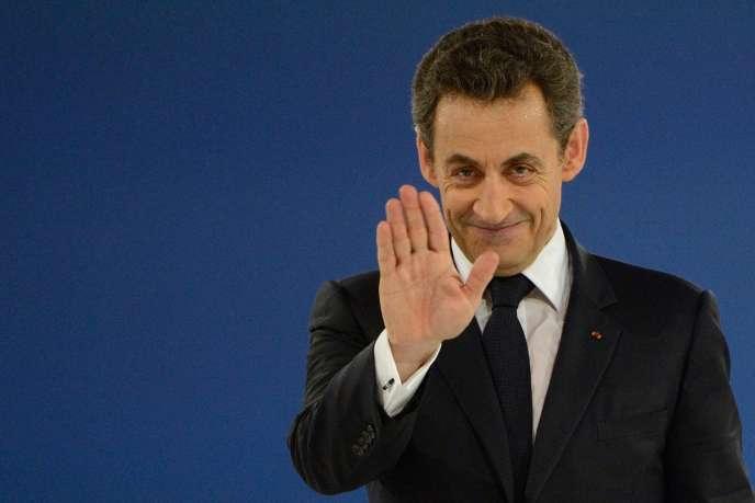 Nicolas Sarkozy au meeting de Villepinte, lors de la campagne présidentielle, le 11mars2012.