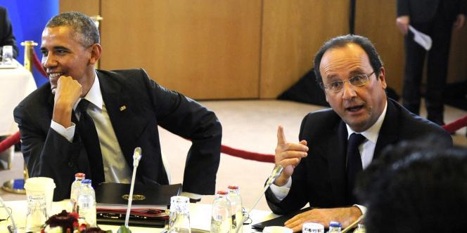 François Hollande et Barack Obama à Bruxelles, le 5 juin 2014.