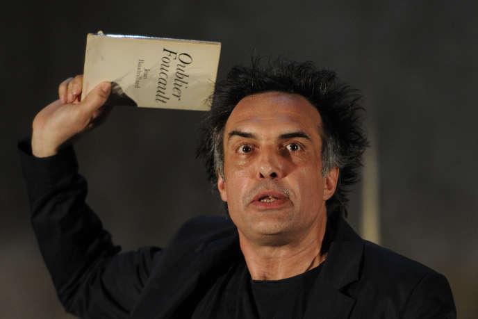 Nicolas Bouchaud lors du 67e Festival d'Avignon, le 6 juillet 2013.