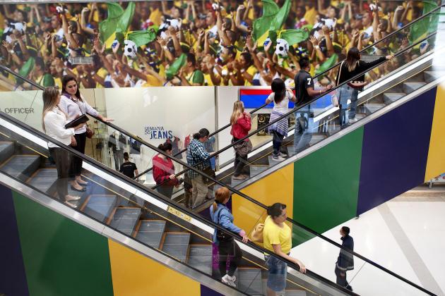 Le centre commercial Mtro Itaquera proche de l'Arena Corinthians.