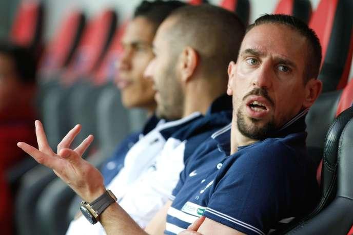 Franck Ribéry, le 1er juin 2014 à Nice.