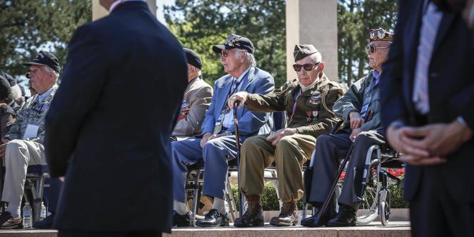 Un vétéran lors des cérémonies du 6 juin.