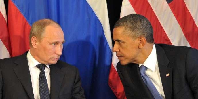 Vladimir Poutine et Barack Obama, en juin2012 à Los Cabos, au Mexique, lors d'un sommet du G20.