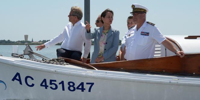 Ségolène Royal visite le bassin d'Arcachon, dimanche 8 juin.