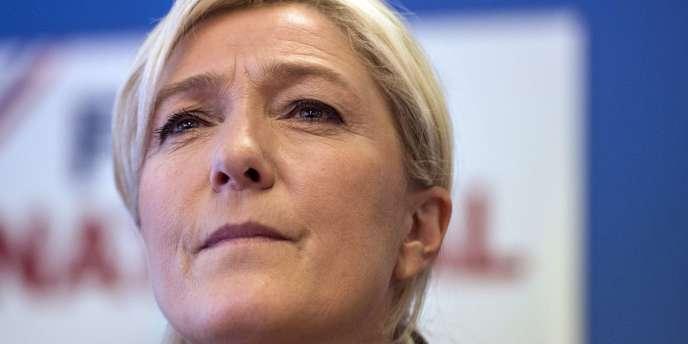 La présidente du Front national, Marine LePen, en mai.