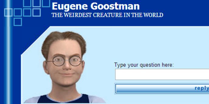 Eugene Goostman, tel que dépeint par le site de PrincetonAI, où une version du programme informatique est hébergée.