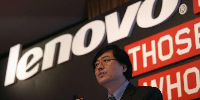 Le PDG du groupe chinois Lenovo, le 21mai 2014.